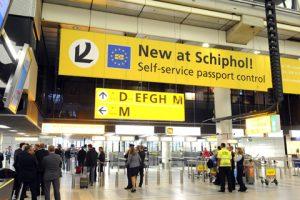 Schiphol airport arrivals