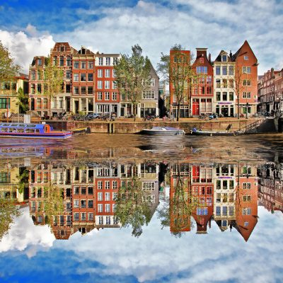 beautiful houses in Amsterdam