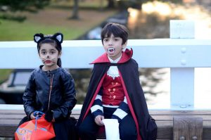 Picture of Hayat children from Pakistan for Halloween