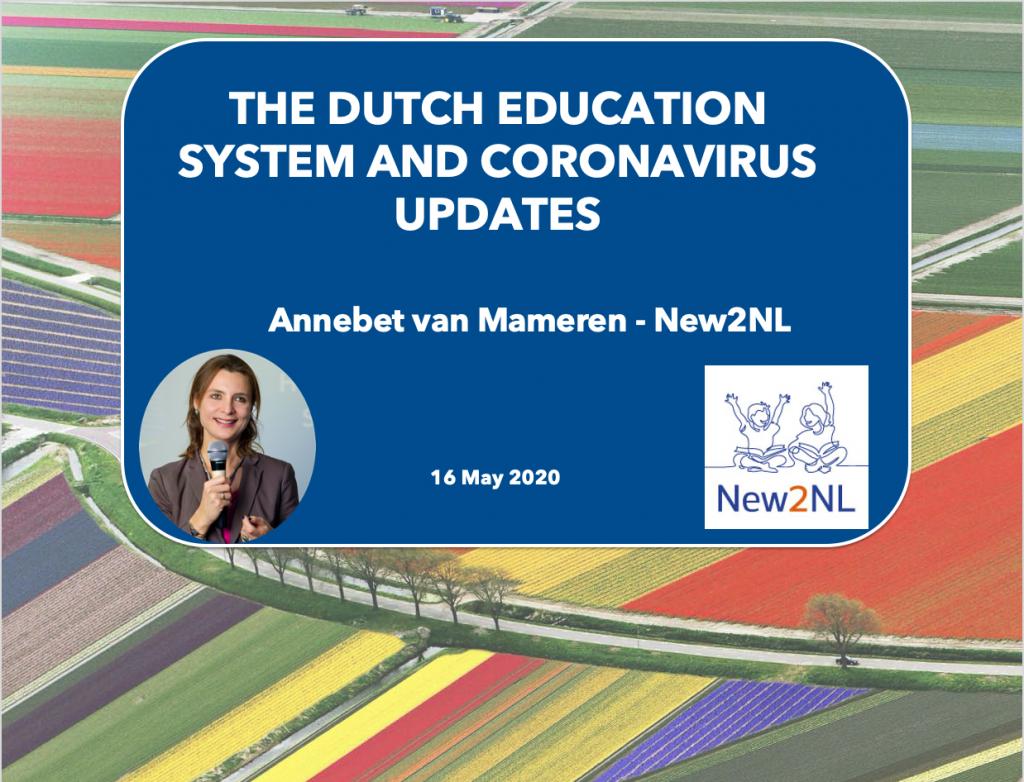 Webinar on Dutch education and coronavirus updates