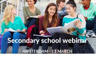 Webinar secondary school Amsterdam
