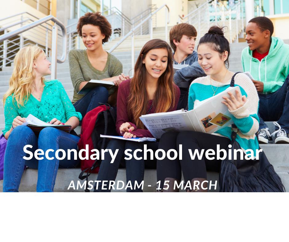 Webinar secondary schools